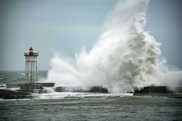 Tempête à Port Vendres - Alain Darmois