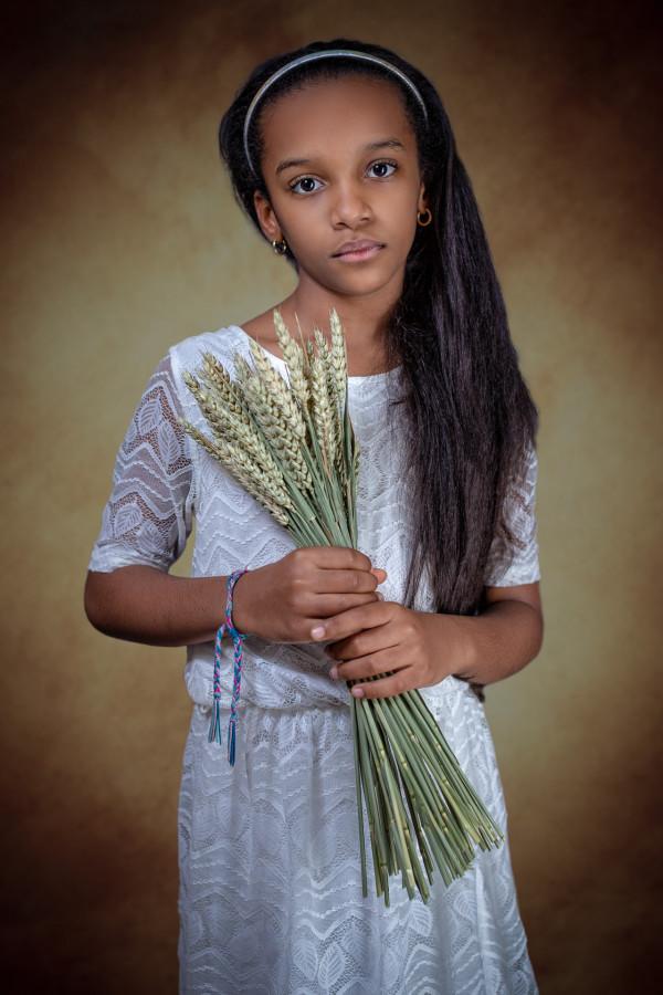 Jeune fille au bouquet de blé - Alexandre Fernandez